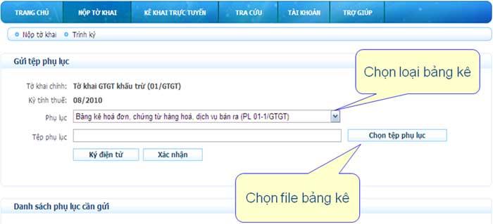 ChonLoaiBangKeVaFile Hướng dẫn thủ tục kê khai thuế qua mạng (P2)