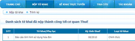 DanhSachToKhaiGuiThanhCong Hướng dẫn thủ tục kê khai thuế qua mạng (P1)