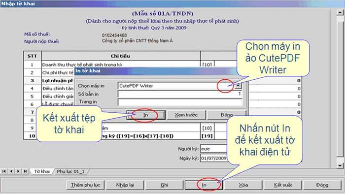 InCacLoaiToKhaiKhac Hướng dẫn thủ tục kê khai thuế qua mạng (P1)
