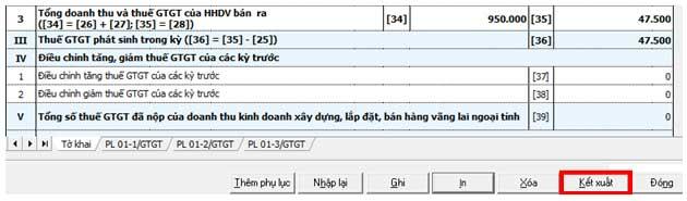 KetXuatToKhai01GTGT1 Hướng dẫn thủ tục kê khai thuế qua mạng (P1)