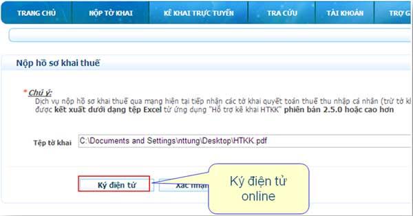 KyDienTuOnLine Hướng dẫn thủ tục kê khai thuế qua mạng (P1)