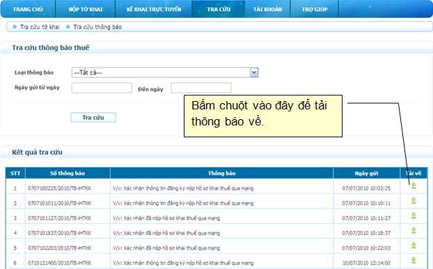 TaiThongBaoVe Hướng dẫn thủ tục kê khai thuế qua mạng (P2)