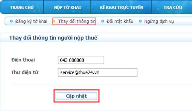 ThayDoiThongTinNNT Hướng dẫn thủ tục kê khai thuế qua mạng (P2)