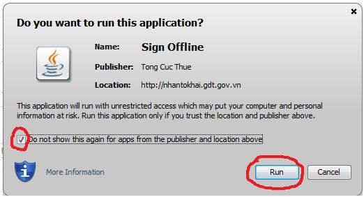 warning applet1 Nâng cấp phần mềm HTKK v3.2.3 và các ứng dụng iHTKK