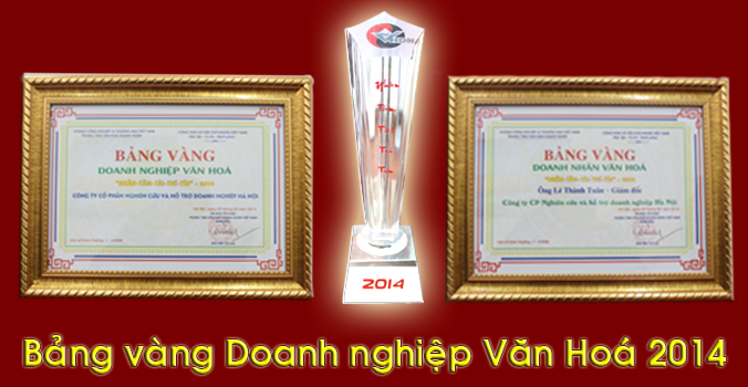 03 bang vang doanh nghiep doanh nhan van hoa KTHN nhận danh hiệu Bảng vàng doanh nghiệp văn hóa 2014
