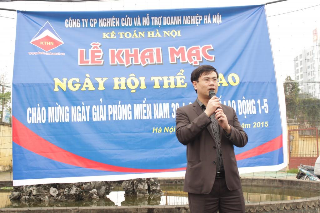 bd1 Kế toán Hà Nội khai mạc ngày hội thể thao chào mừng 30 4 & 1 5