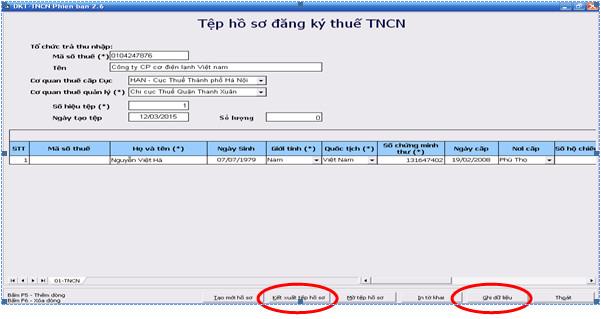 tncn1 Thủ tục đăng ký mã số thuế thu nhập cá nhân năm 2015