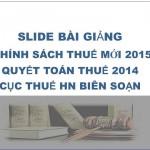 Luật thuế mới nhất 2015