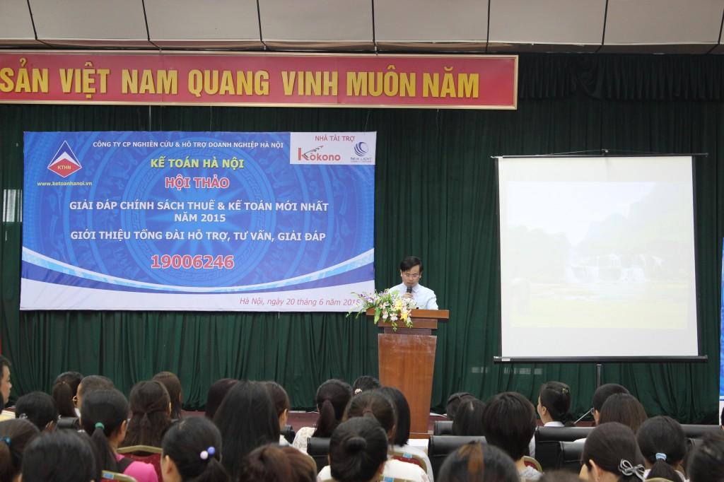 hoi thao 1 Kế toán Hà Nội tổ chức hội thảo Giải đáp chính sách thuế và kế toán mới nhất năm 2015