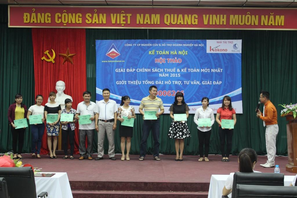 hoi thao 9 Kế toán Hà Nội tổ chức hội thảo Giải đáp chính sách thuế và kế toán mới nhất năm 2015