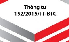 thong tu 152 Thông tư số 152/2015/TT BTC hướng dẫn về thuế tài nguyên.