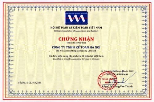 chung nhan hanh nghe dich vu ke toan1 e1496290554826 Dịch vụ làm báo cáo tài chính cuối năm 2018 giá rẻ