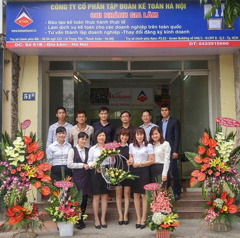 kthn CN Gia Lam 1 Tập đoàn Kế toán Hà Nội khai trương chi nhánh Gia Lâm