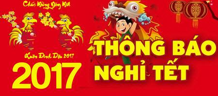 lich nghi tet nguyen dan 2017 Thông báo lịch nghỉ tết nguyên đán Đinh Dậu 2017