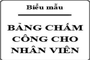 bang cham cong Mẫu bảng chấm công file Word Excel cho nhân viên mới nhất 2019