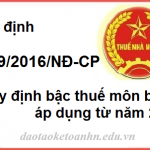 Nghi dinh 139_2016 quy dinh bac thue mon bai