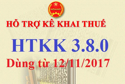 htkk 3 8 0 Tải phần mềm kê khai thuế HTKK 3.8.0 mới nhất
