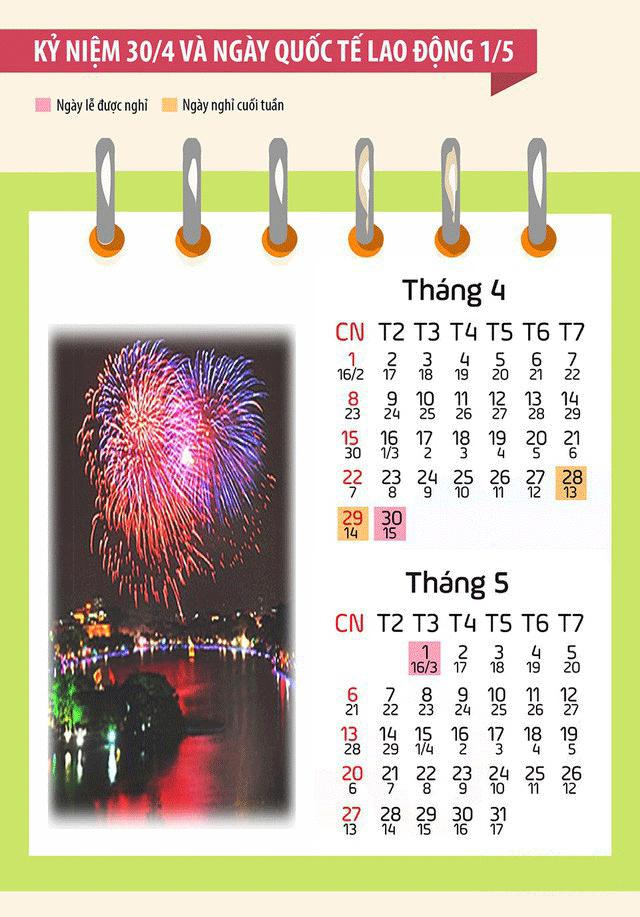 nghi le 30 4 Lịch nghỉ lễ giỗ tổ Hùng Vương và 30/4, 1/5/2018
