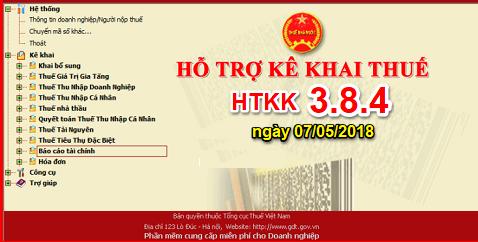 htkk3 8 4 Nâng cấp ứng dụng HTKK 3.8.4, iTaxviewer 1.4.6, iHTKK 3.6.4