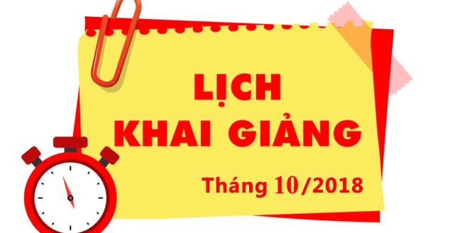 lich khai giang 10 2018 Lịch khai giảng lớp kế toán tại Bắc Ninh ngày 30/10/2018 tối 3,5,7