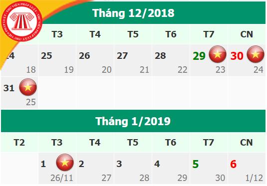lich nghi tet 2019 Đã có lịch nghỉ tết dương lịch 2019 mới nhất