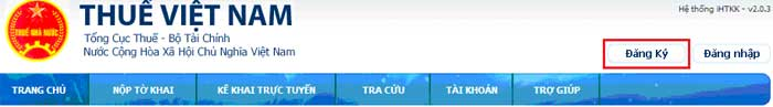 AnNutDangKy1 Hướng dẫn thủ tục kê khai thuế qua mạng (P1)