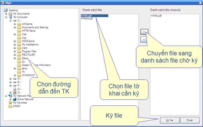 ChonFileDeKyOffline Hướng dẫn thủ tục kê khai thuế qua mạng (P2)