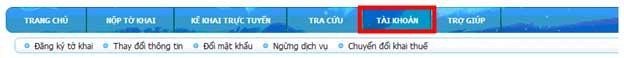 ChonNutTaiKhoan Hướng dẫn thủ tục kê khai thuế qua mạng (P1)