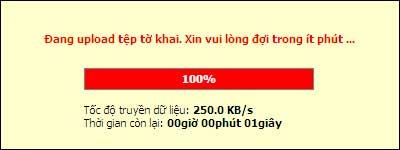 DangUpLoadToKhai1 Hướng dẫn thủ tục kê khai thuế qua mạng (P2)