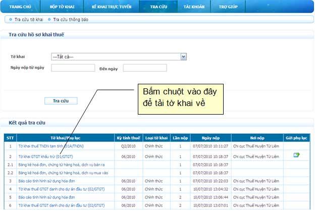 ManHinhTaiToKhaiVe Hướng dẫn thủ tục kê khai thuế qua mạng (P2)