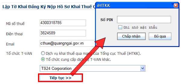 TiepTucDangKy Hướng dẫn thủ tục kê khai thuế qua mạng (P1)