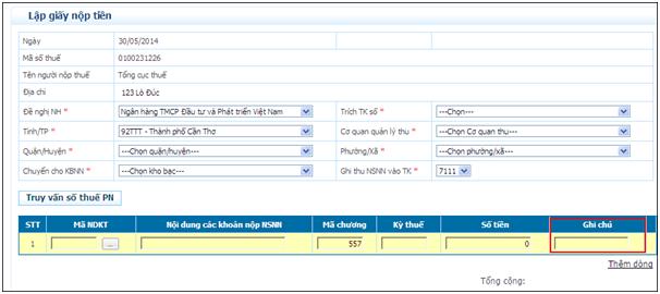GiayNopTien 11  Nâng cấp ứng dụng iHTKK phiên bản v2.3.5