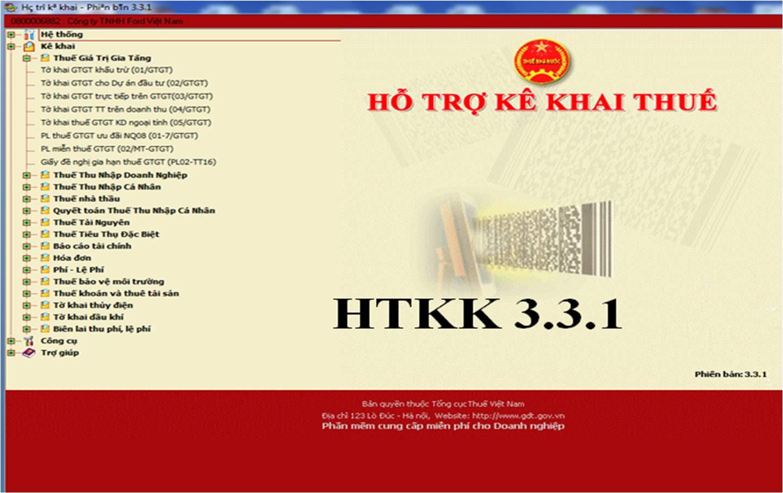 HTKK3 3 1 Thông báo nâng cấp ứng dụng HTKK 3.3.1