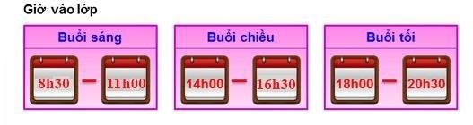 gio hoc Lịch khai giảng lớp kế toán tại Hà Nội tuần 11/7 17/7/2016