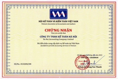 chung nhan hanh nghe dich vu ke toan1 e1496290554826 Dịch vụ kế toán thuế trọn gói uy tín giá rẻ tại Hà Nội