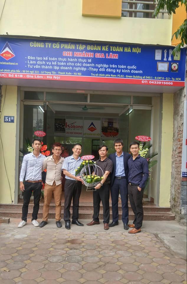 kthn CN Gia Lam 3 Tập đoàn Kế toán Hà Nội khai trương chi nhánh Gia Lâm