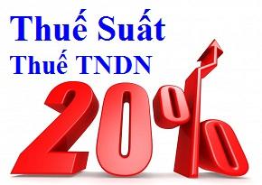 thue suat thue tndn Thuế suất thuế TNDN năm 2017 mới nhất hiện hành
