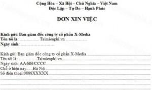 don xin viec 300x178 Hướng dẫn viết đơn xin việc tốt, ấn tượng