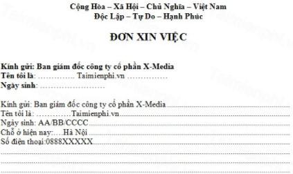 don xin viec Một bộ hồ sơ xin việc gồm những giấy tờ gì?