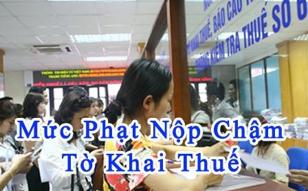 muc phat cham nop to khai thue mon bai Mức phạt nộp chậm tờ khai thuế môn bài