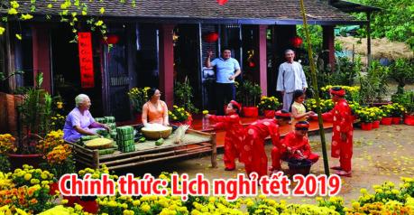 lich nghi le tet 2019 Lịch nghỉ tết dương lịch và tết nguyên đán 2019