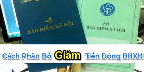 phan bo thu nhap giam dong BHXH Cách phân bổ thu nhập NLĐ năm 2019 giảm tiền đóng BHXH