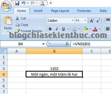 cach chuyen doi so thanh chu trong excel 11 Hướng dẫn cách chuyển số thành chữ trong Excel dễ dàng nhất
