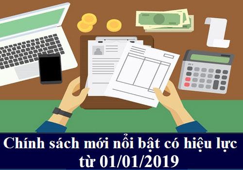 chinh sach moi 2019 10 chính sách mới có hiệu lực từ năm 2019 mà kế toán cần phải biết