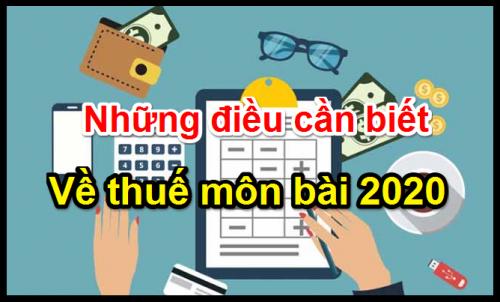 thue mon bai 2020 e1578022261571 Hướng dẫn kê khai lệ phí môn bài 2020, mức đóng thuế môn bài