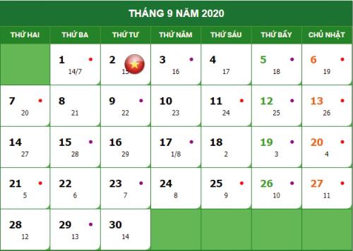 quoc khanh 2020 e1596678612448 Lịch nghỉ lễ quốc khánh 02/09/2020