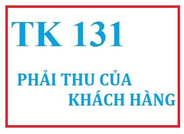 Hạch toán phải thu của khách hàng tài khoản 131 TT 133